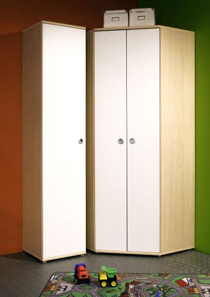 eckkleiderschrank kiki 2 t rig in ahorn nb neu. Black Bedroom Furniture Sets. Home Design Ideas