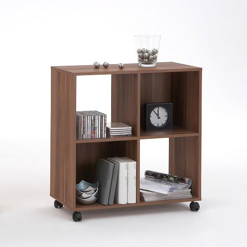 regal raumteiler b cherregal cd regal medienregal sprint auf rollen ebay. Black Bedroom Furniture Sets. Home Design Ideas