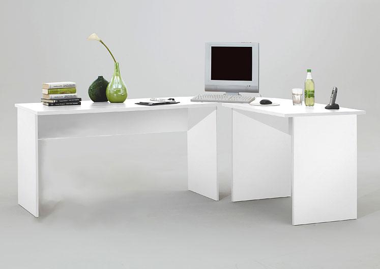 Büro eckschreibtisch weiß  Winkelschreibtisch / Eckschreibtisch