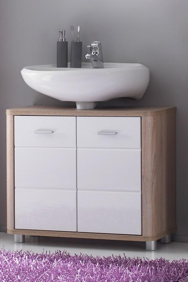 badm bel komplettset badm belset badezimmer vita varianten eiche glanz wei neu ebay. Black Bedroom Furniture Sets. Home Design Ideas