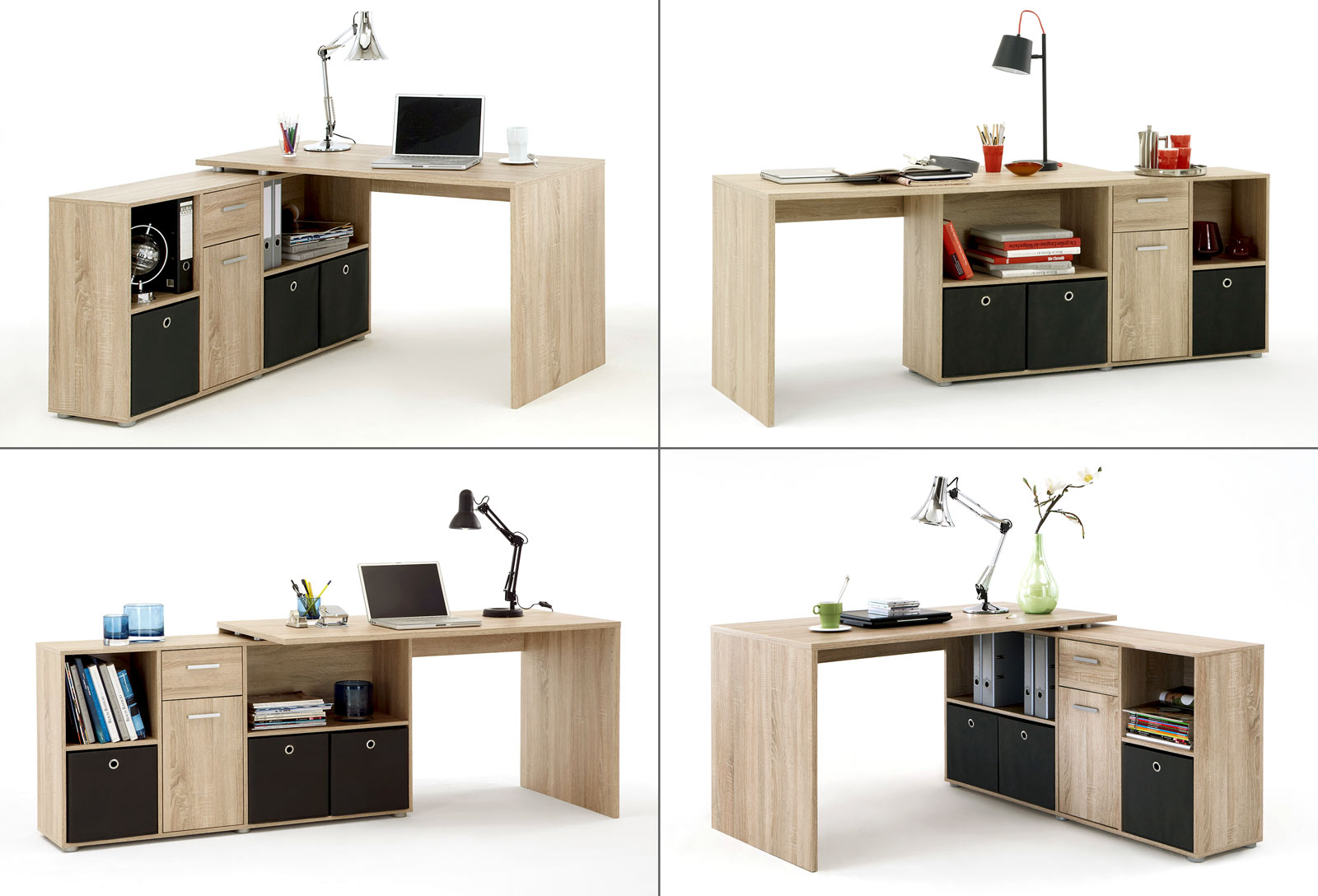 Eckschreibtisch Weiß Poco ~ Schreibtisch computertisch eckschreibtisch winkelschreibtisch bro lex