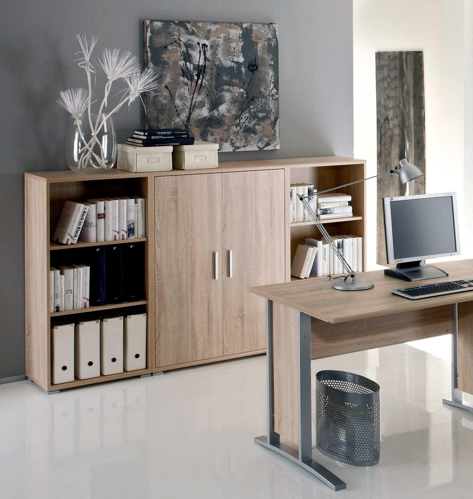 aktenschrank highboard regal schrank b rom bel office line eiche sonoma top ebay. Black Bedroom Furniture Sets. Home Design Ideas