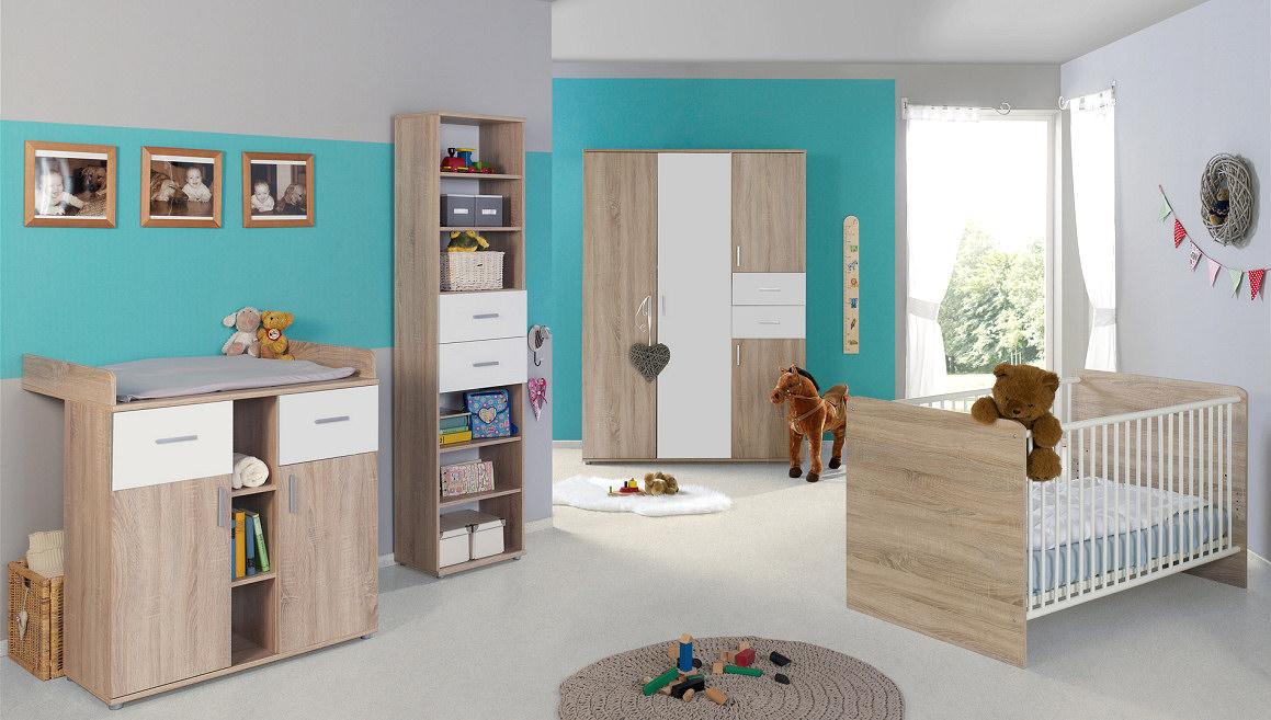 babyzimmer kinderzimmer komplett set babym bel komplettset umbaubar elisa 4 ebay. Black Bedroom Furniture Sets. Home Design Ideas