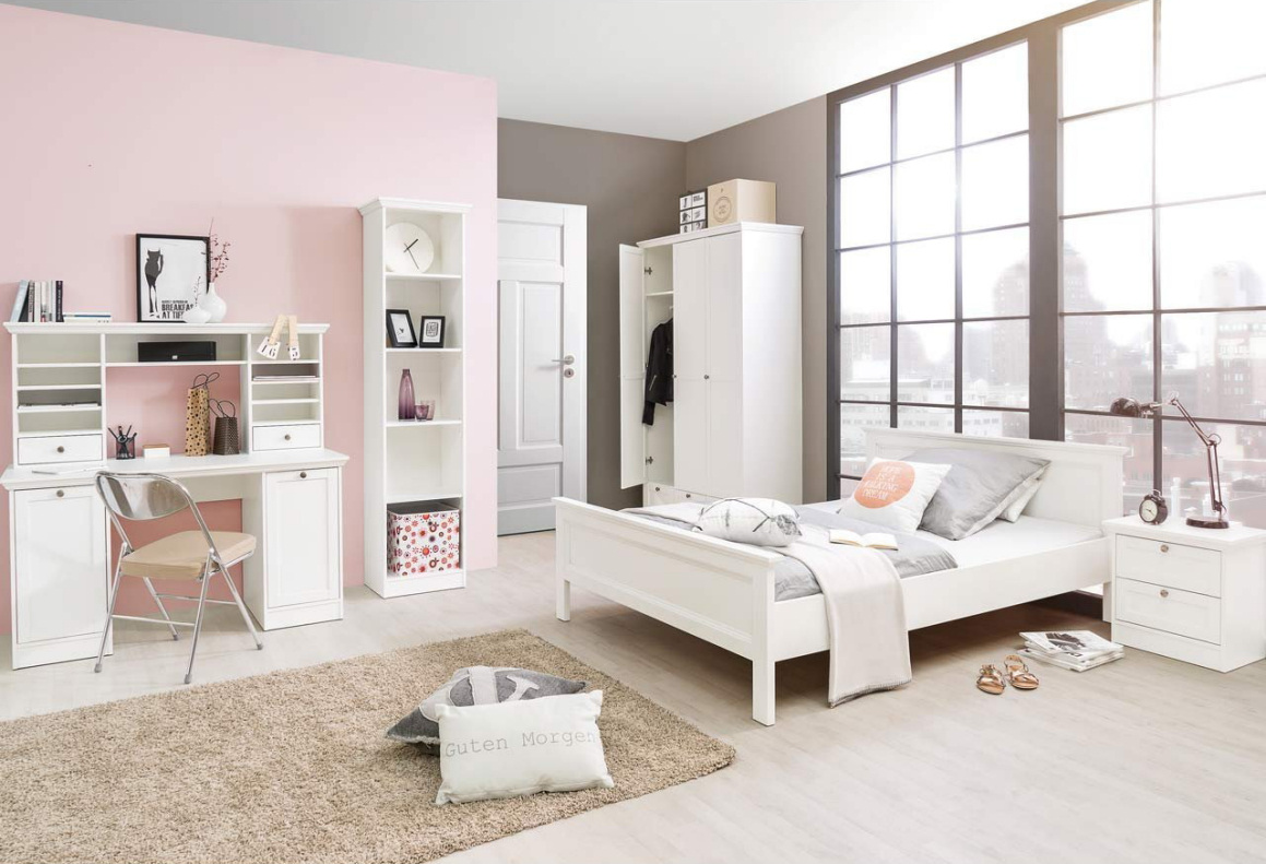 landhaus jugendzimmer kinderzimmer schlafzimmer komplettset stockholm 3 in wei ebay. Black Bedroom Furniture Sets. Home Design Ideas