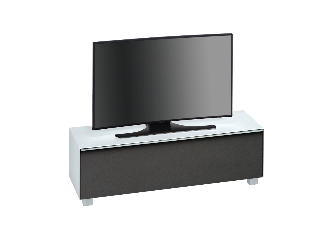 maja 7736 soundboard tv lowboard soundconcept in wei glas matt 140 cm breit ebay. Black Bedroom Furniture Sets. Home Design Ideas