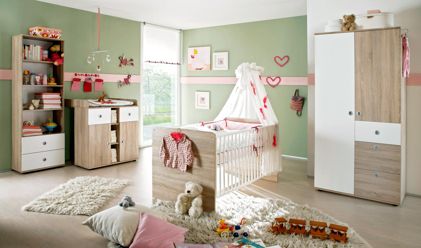 babyzimmer komplettset kinderzimmer komplett set babym bel wiki 3 eiche sonoma ebay. Black Bedroom Furniture Sets. Home Design Ideas
